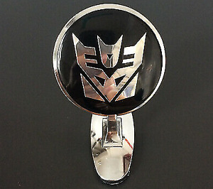 Car Metal Chrome Hood Ornament Badge Emblem Transformers Decepticon Universalfit
