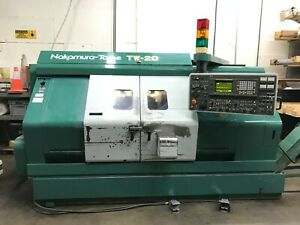 Nakamura tome Tw20 Mm Cnc Lathe Twin Spindle turret Turn Mill 1995 Box Ways