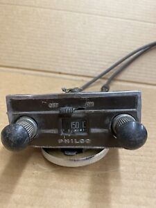 1930s Philco Car Radio Head And Cables