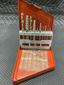 Snap On Tools Exdl10 10 Piece Extractor Set Left Handed Cobalt Drill Bits Usa