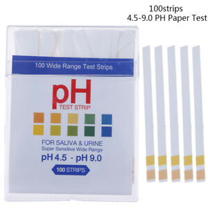 100ph Indicator 4 5 9 0 Test Strips Paper Litmus Tester Laboratory Urine Ey