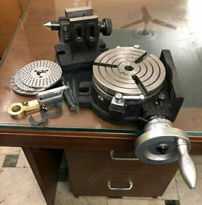 6 150mm Rotary Table 3 Slot Hv6 With Indexing Plates Set And Tailstock