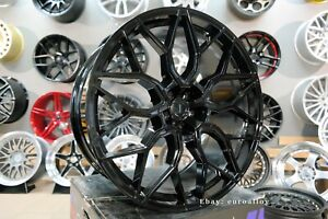 New 4x 23 Inch 5x120 Hf 2 Style Black Alloy Wheels For Land Rover Range Sport