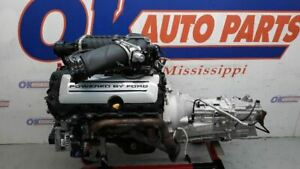 5 0 Roush Supercharged Coyote Engine 6 Speed Manual Trans Pullout Gen 1 Mustang