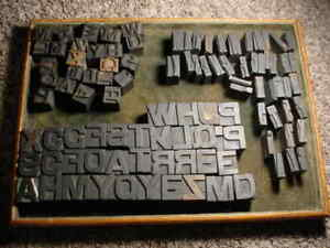 Lg Group 100 11 16 1 Antique Wood Letterpress Print Type Letters Numbers