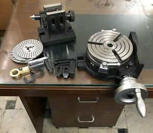 6 150mm Rotary Table 3 Slot Hv6 With Indexing Plates Tailstock Clamping Kit