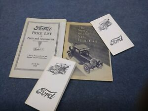 Vintage 1919 Ford Model T Price List Of Parts Catalog Story Of The New Ford Car