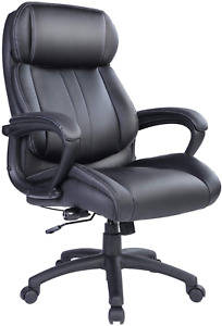 Big And Tall Executive Office Chair Computer Desk 400lb Weight Capacity Wheels