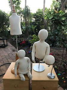 Lot Of 4 Mannequin Kids Size Baby Size