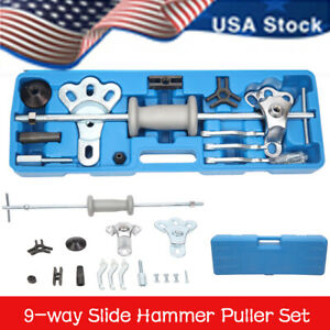 9 Way Slide Hammer Axle Bearing Dent Hub Internal External Gear Puller Tool Set