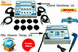 Combo Ultrasound Therapy 1mhz Freq Back Pain Relief Zenex 4 Channel Therapy ear