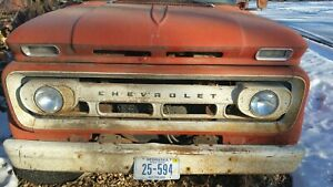 Original 62 1962 Chevy Chevrolet Pickup Truck Grill C50 C60 Chevy Bezels Big