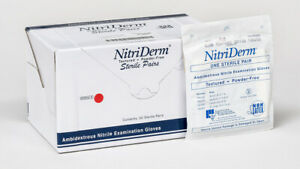 50 pack Ihc Nitriderm Textured Pf Nitrile Surgical Sterile Glove Large 106300