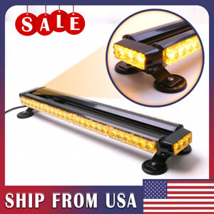 26 5 54 Led Light Bar Double Side Emergency Warning Flash Strobe Light Amber