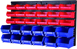 Maxworks 80694 30 bin Wall Mount Parts Rack storage For Your Nuts Bolts Screws