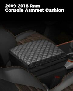 New Center Console Armrest Real Leather Cover For Dodge Ram 2009 2018 Black