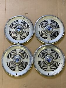 Original 1965 Ford Galaxie Set Of 4 Hubcaps Wheel Covers Oem 65 Hub Caps