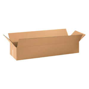 34 X 10 X 6 Long Corrugated Boxes Ect 32 Brown Moving packing Boxes 10 bundle