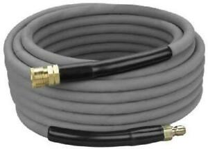 4000psi Pressure Washer Hose 50 Gray Non Marking Cover With Couplers Installed