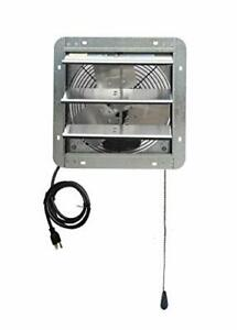 Wall Mounted Shutter Exhaust Thermostat Control 3 Speeds 12 Vent Fan For Home
