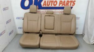 2018 19 Ford F150 Lariat Crew Rear Seat Tan Leather