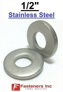 1 2 Extra Thick 175 Flat Washers 18 8 Stainless Steel Washer choose Qty