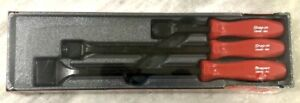 New Snap on 3 pc Red Scraper Set Part Csa300ar