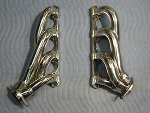 Ford 302 5 0 Polished Stainless Steel Shorty Headers 1984 Thur 1993 Mustang