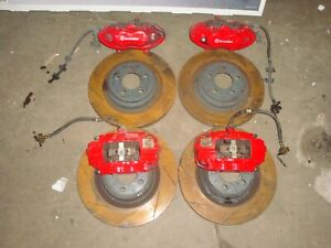 2006 18 Charger Challenger Scat Pack Srt Front Rotors Calipers 4 Piston Br4 Red