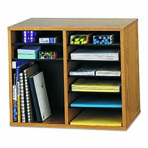 Safco Products Wood Adjustable Literature Organizer 12 Compartment 9420mo Med