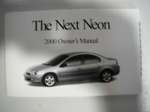 2000 DODGE NEON OWNERS MANUAL V4 2.0L COUPE SEDAN HIGHLINE COMPETITION AUTO MANS $6.99