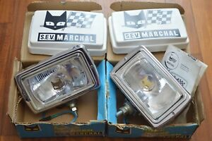 Vintage Nos Marchal 859gt Spot Driving Lights With Stone Covers Jeep Jamboree