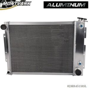 For 67 69 Chevy Camaro Pontiac Firebird Performance Aluminum Radiator Silver