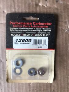 Holley 34 7 Carburetor Needle Seat Hardware Kit With Gaskets 12600 600 800 670