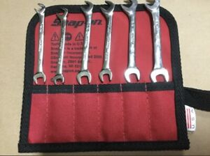 Snap On Angle Head Open End Ignition Wrench Set 6 Piece Sae 15 64 3 8 New