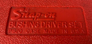 Snap On A157c 23 Pc Standard Bushing Driver Set Pb20 Hard Case Complete
