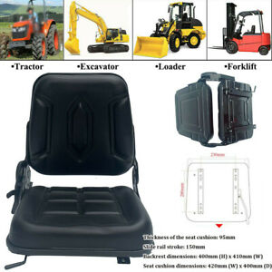 New Complete Tractor Seat Lawn Mower Garden Black Medium Back 15 Height Us