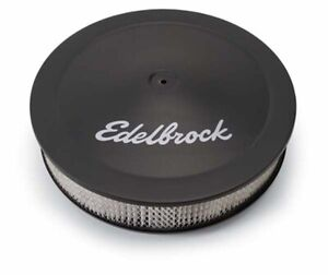 Edelbrock 1223 Edelbrock Holley Pro Flow 14 X 3 Black Air Cleaner
