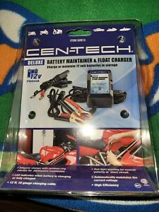 Cen tech Deluxe 12v 750ma Battery Maintainer Float Trickle Charge New Fast Ship