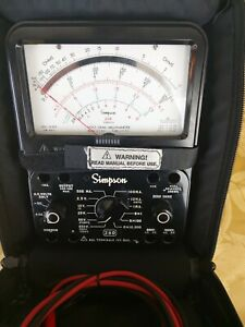 Simpson Multimeter Model 260 Series 8 With Padded Case And Leads