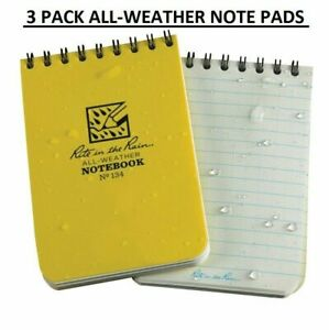 3 Pack Rite In The Rain Pocket Notebook 3 X 4 5 All weather Writing 134