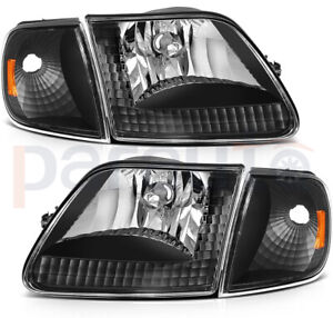 For 97 03 Ford F 150 97 02 Ford Expedition Headlights Assembly Front Light Pairs