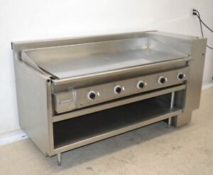 Keating 60 fld 60 Electric Griddle Commercial Stainless Cooktop Miraclean 3 ph