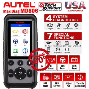 Autel Md806 Car Auto Diagnostic Code Scanner Tools Bms Abs Srs Dpf Epb As Mk808