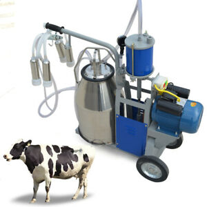 25l Electric Milking Machine Piston Vacuum Pump Milking Pump W Bucket 2 Plug
