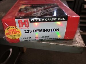 New hornady 223 remington reloading 2 Die Set 546228 New In Box $85.00