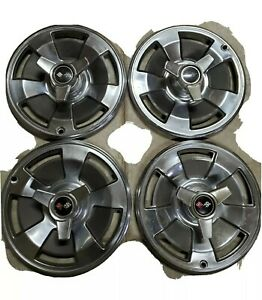 1966 Corvette 15 Original Hubcaps Spinners Lighly Used