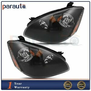 For Nissan Altima 2002 2004 Headlight Assembly Black Replacement Lights One Pair