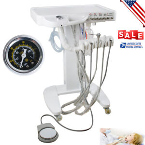 Portable Mobile Dental Delivery Unit Cart Treatment Machine 4 Hole Equipment Usa