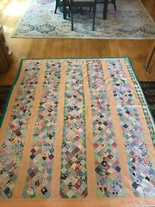 Antique Vintage Quilt Peach Colored